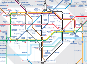 London Subway Map Russell Station.Monopoly
